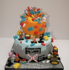 Lego The Movie Cake